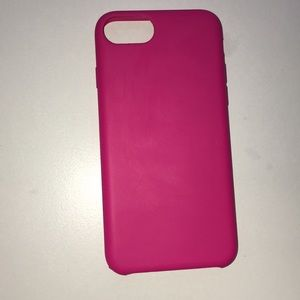 iphone 6s pink silicon hard case
